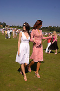 Jamime Murray and Natalya Petouchkova<br />. Veuve Clicquot Gold Cup Final at Cowdray Park. Midhurst. 17 July 2005. ONE TIME USE ONLY - DO NOT ARCHIVE  © Copyright Photograph by Dafydd Jones 66 Stockwell Park Rd. London SW9 0DA Tel 020 7733 0108 www.dafjones.com