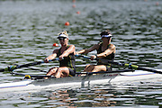 Lucerne, SWITZERLAND. B Final, AUS W2-,  bow Robyn SELBY SMITH and Pheobe STANLEY W2-, at the  2008 FISA World Cup Regatta, Round 2.  Lake Rotsee, on Sunday, 01/06/2008.   [Mandatory Credit:  Peter Spurrier/Intersport Images].Lucerne International Regatta. Rowing Course, Lake Rottsee, Lucerne, SWITZERLAND.