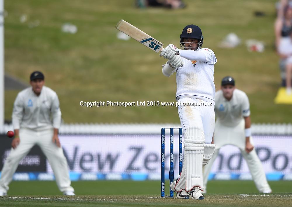 Milinda Siriwardana on day 1 of the 2nd cricket test match between New Zealand Black Caps and Sri Lanka at Seddon Park in Hamilton, New Zealand. Friday 18 December 2015. Copyright photo: Andrew Cornaga / www.photosport.nz