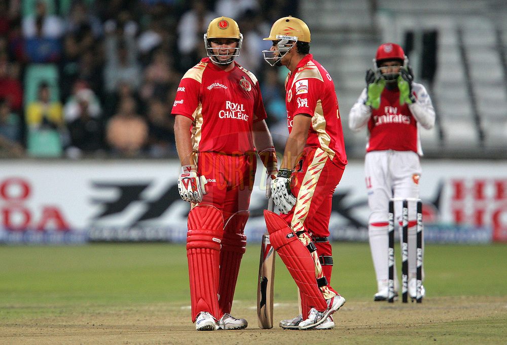 DURBAN, SOUTH AFRICA - 24 April 2009. Jacques Kallis and Ross Taylor during the IPL Season 2 match between the Royal Challengers Bangalore and the Kings X1 Punjab held at Sahara Stadium Kingsmead, Durban, South Africa..