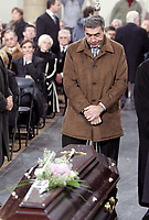 Fotball<br /> Trenerlegenden Raymond Goethals begravelse i Brussel<br /> 13. desember 2004<br /> Foto: Digitalsport<br /> NORWAY ONLY<br />  EDDY MERCKX DURING THE RAYMOND GOETHALS'S FUNERAL  IN BRUXELLE