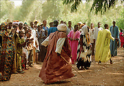 Crowd at an event - Podor Senegal