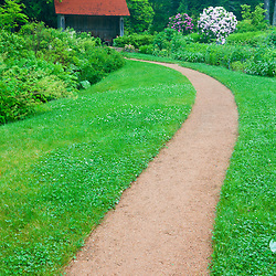 A path at Thuya Gardens in Northeast Harbor, Maine.