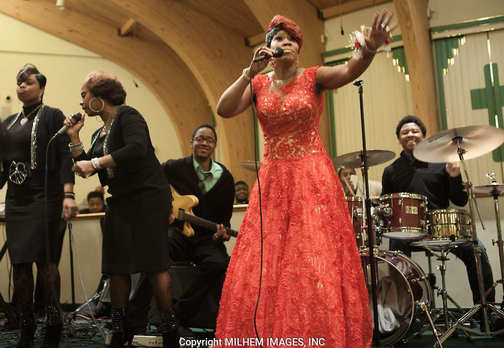 Kim Spivy, The Trumpelettes, Detroit Gospel Church Performances
