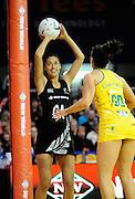 Maria Tutaia Goes for goal. Constellation cup netball. Silver Ferns v Australian Diamonds at ILT Velodrome, Invercargill, New Zealand. Sunday 15th september 2013. New Zealand. Photo: Richard Hood/photosport.co.nz