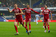 Middlesbrough defender Daniel Ayala (4) rushes towards the linesman after his goal was ruled off-side during the EFL Sky Bet Championship match between Queens Park Rangers and Middlesbrough at the Kiyan Prince Foundation Stadium, London, England on 9 November 2019.