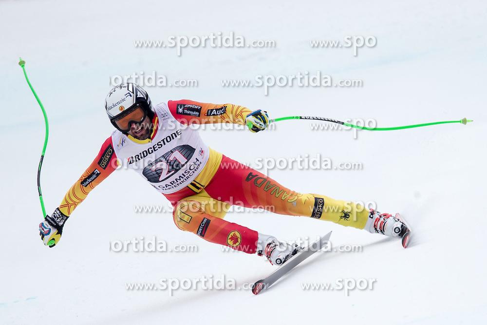 27.02.2015, Kandahar, Garmisch Partenkirchen, GER, FIS Weltcup Ski Alpin, Abfahrt, Herren, 2. Training, im Bild Manuel Osborne-Paradis (CAN) // Manuel Osborne-Paradis of Canada in action during the 2nd trainings run for the men's Downhill of the FIS Ski Alpine World Cup at the Kandahar course, Garmisch Partenkirchen, Germany on 2015/27/02. EXPA Pictures © 2015, PhotoCredit: EXPA/ Johann Groder