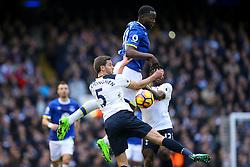 Romelu Lukaku of Everton jumps above the rest to get the ball - Mandatory by-line: Jason Brown/JMP - 05/03/2017 - FOOTBALL - White Hart Lane - London, England - Tottenham Hotspur v Everton - Premier League