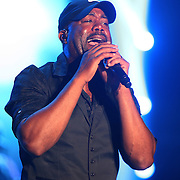 Musical artist Darius Rucker performs during the True Believers Tour concert at the CFE Arena on the University of Central Florida campus, on Thursday, April 24, 2014, in Orlando, Florida.  (AP Photo/Alex Menendez)
