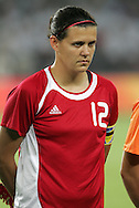 12 August 2008: Christine Sinclair (CAN).  The women's Olympic team of Sweden defeated the women's Olympic soccer team of Canada 2-1 at Beijing Workers' Stadium in Beijing, China in a Group E round-robin match in the Women's Olympic Football competition.