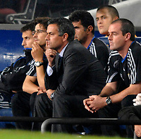 Photo: Richard Lane.<br /> Barcleona v Chelsea. UEFA Champions League, Group A. 31/10/2006. <br /> Chelsea manager, Jose Mourinho on the bench.