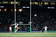 Maxime MACHENAUD (Racing Metro 92) transformed the try of Dimitri SZARZEWSKI (Racing Metro 92) (score 28-27) during the European Rugby Champions Cup, Pool 4, Rugby Union match between Racing 92 and Munster Rugby on January 14, 2018 at U Arena stadium in Nanterre, France - Photo Stephane Allaman / ProSportsImages / DPPI