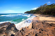 Kahili Beach, AKA Rock Quarry Beach, Kilauea, Kauai, Hawaii