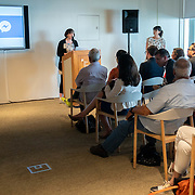 APRIL 25, 2018--MIAMI, FLORIDA<br /> Staff from the Akron Museum of Art during their presentation as part of Arts and Technology exploration of new ways to connect people to art, at the Perez Art Museum Miami.<br /> (PHOTO BY ANGELVALENTIN/FREELANCE)