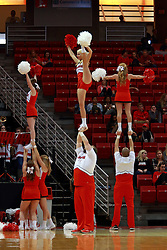 05 November 2016:  Redbird Chrreleaders during an NCAA  mens basketball game where the Quincy Hawks lost to the Illinois State Redbirds in an exhibition game at Redbird Arena, Normal IL