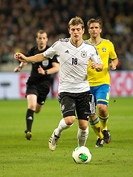 15.10.2013, Friends Arena, Stockholm, SWE, FIFA WM Qualifikation, Schweden vs Deutschland, Gruppe C, im Bild Germany 18 Toni Kroos, , , Nyckelord , Keywords : football , fotboll , soccer , FIFA , World Cup , Qualification , Sweden , Sverige , Schweden , Germany , Tyskland , Deutschland portr©tt portrait // during the FIFA World Cup Qualifier Group C Match between Sweden and Germany at the Friends Arena, Stockholm, Sweden on 2013/10/15. EXPA Pictures © 2013, PhotoCredit: EXPA/ PicAgency Skycam/ Ted Malm<br /> <br /> ***** ATTENTION - OUT OF SWE *****