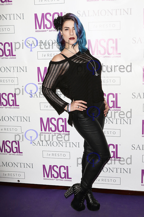 Jasz Vegas, MediaSkin Gifting Lounge, Salmontini Le Resto, London UK, 19 January 2015, Photo by Richard Goldschmidt