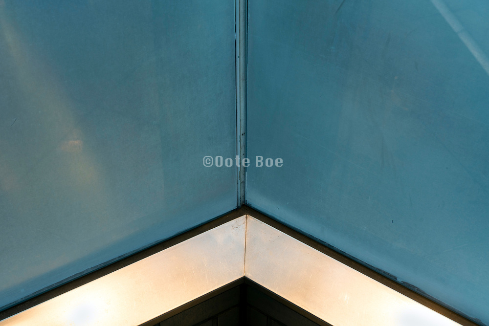 frosted glass wall corner