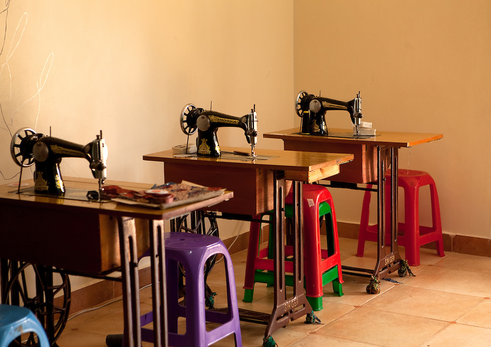 Sewing machines at Wrap Up Africa, Kampala, Uganda