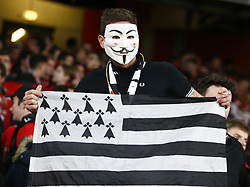 March 14, 2019 - London, United Kingdom - London, UK, 14 March, 2019.Rennes Fans.during Europa League Round of 16 2nd Leg  between Arsenal and Rennes at Emirates stadium , London, England on 14 Mar 2019. (Credit Image: © Action Foto Sport/NurPhoto via ZUMA Press)