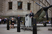 Veteran Churchill actor Sir Robert Hardy makes famous wartime speech by Prime Minister at the 70th anniversary of WW2 Battle of Britain.