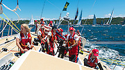 Sydney, 2013 December 26th, Start Rolex Sydney Hobart Yacht Race 2013 onboard Clipper 70 Switzerland