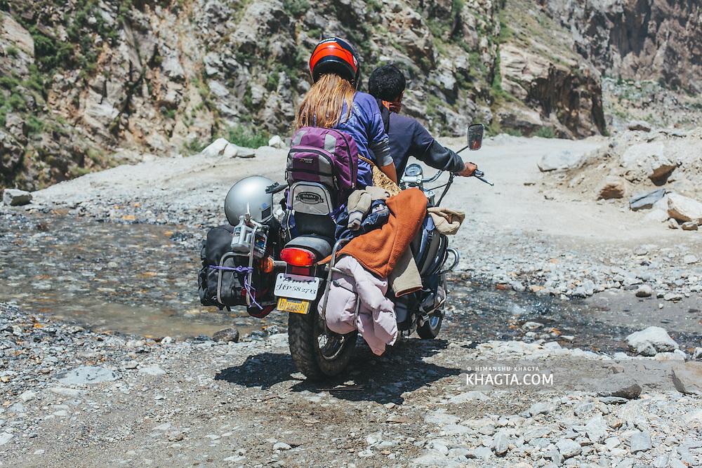A bike on its way to Reckong Peo, Kinnaur