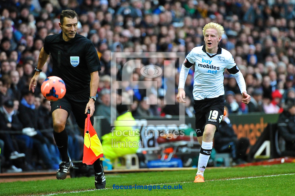 Picture by Ian Wadkins/Focus Images Ltd +44 7877 568959<br /> 05/01/2014<br /> Will Hughes of Derby County chases the ball during the The FA Cup match at the Ipro Stadium, Derby.