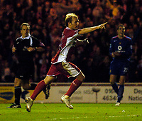 Photo: Jed Wee.<br />Middlesbrough v Manchester Utd. The Barclays Premiership. 29/10/2005.<br /><br />Middlesbrough's Gaizka Mendieta celebrates his second goal and his team's fourth.