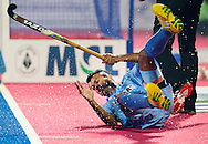 BHUBANESWAR  (INDIA)  - HERO Champions Trophy Hockey men. Day 1. Germany vs India.  Chandanda Thimmaiah of India. PHOTO  KOEN SUYK