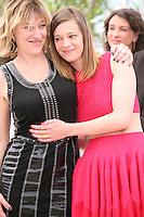 Director Valéria Bruni Tedeschi and actress Celine Sallette at the 'Un Chateau En Italie' film photocall at the Cannes Film Festival  Tuesday 21 May 2013