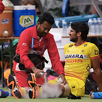 DEN HAAG - Rabobank Hockey World Cup<br /> 34 India - Korea<br /> Foto: Injuries.<br /> COPYRIGHT FRANK UIJLENBROEK FFU PRESS AGENCY