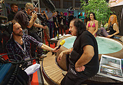 Berlin, Germany - 18 October 2012<br /> Porn star Ron Jeremy promoting his 'Ron Jeremy' brand of rum at the Venus Berlin 2012 adult industry exhibition in Berlin, Germany. Ron Jeremy, born Ronald Jeremy Hyatt, has been an American pornographic actor since 1979. He faces sexual assault allegations which he strenuously denies. There is no suggestion that any of the people in these pictures have made any such allegations.<br /> www.newspics.com/#!/contact<br /> (photo by: EQUINOXFEATURES.COM)<br /> Picture Data:<br /> Photographer: Equinox Features<br /> Copyright: &copy;2012 Equinox Licensing Ltd. +448700 780000<br /> Contact: Equinox Features<br /> Date Taken: 20121018<br /> Time Taken: 12191555