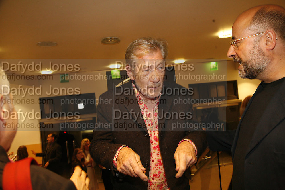 Sir Ian McKellen, Sadler's Wells Celebrates. Benefit evening for Sadler's Wells hosted by Angela Bernstein and Alistair Spalding. The Royal Horticultural Halls. London. 25 September 2006. -DO NOT ARCHIVE-© Copyright Photograph by Dafydd Jones 66 Stockwell Park Rd. London SW9 0DA Tel 020 7733 0108 www.dafjones.com