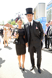 JAMIE & LOUISE REDKNAPP at the third day of the Royal Ascot 2010 (Ladies Day) Racing Festival at Ascot Racecourse, Bershire on 17th June 2010.