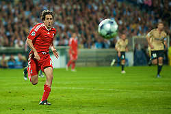 MARSEILLE, FRANCE - Tuesday, September 16, 2008: Liverpool's Yossi Benayoun in action against Olympique de Marseille during the opening UEFA Champions League Group D match at the Stade Velodrome. (Photo by David Rawcliffe/Propaganda)