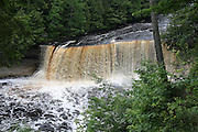 Tahquamenon Falls, viewed from high above the river. This is one of the premier waterfalls in the American Midwest.