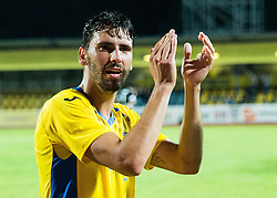21.07.2016, Sports Park, Domzale, SLO, UEFA EL, NK Domzale vs Shakhtar Donetsk, Qualifikation, 2. Runde, Rueckspiel, im Bild Mario Lucas Horvat of NK Domzale celebrates after winning // during the UEFA Europaleague Qualifier 2nd round, 2nd leg match between Grasshopper Club and KR Reykjavik at the Sports Park in Domzale, Slovenia on 2016/07/21. EXPA Pictures © 2016, PhotoCredit: EXPA/ Sportida/ Vid Ponikvar<br /> <br /> *****ATTENTION - OUT of SLO, FRA*****