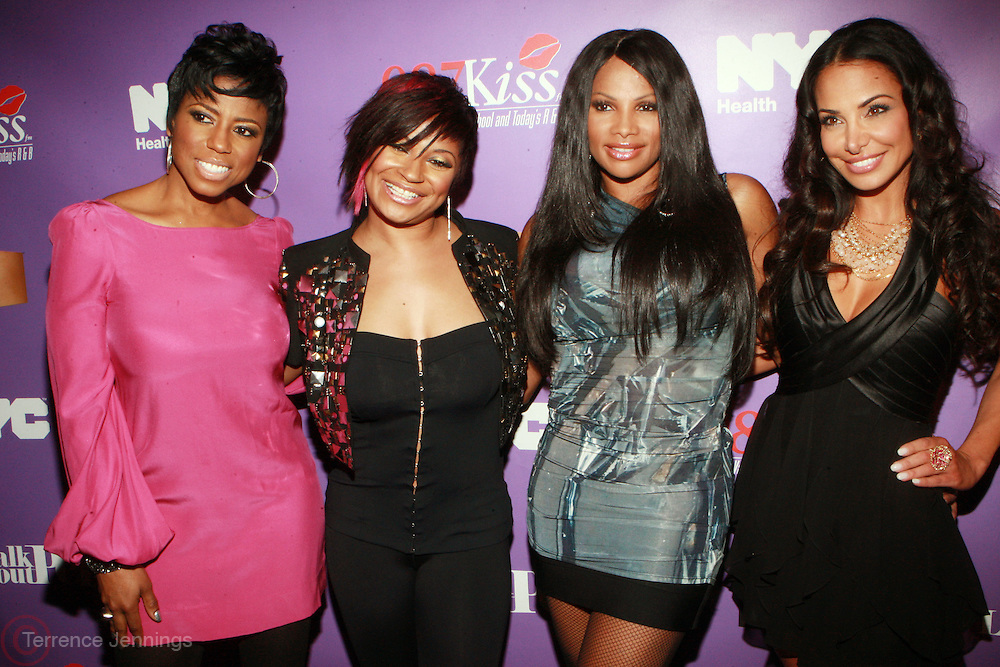 """l to r: Jacque Reid, Kali """"Kittie"""" Troy, Sandra """" Pep"""" Denton and Joumann Kidd at the Celebration for the Finale episode of the VH1 hit reality show ' Let's talk about Pep held at the Comix Club on March 1, 2010 in New York City."""