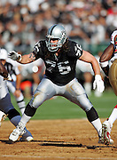 OAKLAND, CA - AUGUST 20:  Offensive tackle Robert Gallery #76 of the Oakland Raiders pass blocks against the San Francisco 49ers at McAfee Coliseum on August 20, 2006 in Oakland, California. The Raiders defeated the Niners 23-7. ©Paul Anthony Spinelli *** Local Caption *** Robert Gallery