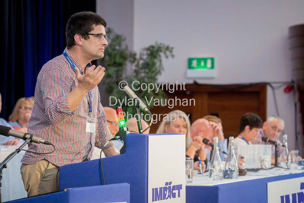 1-6-17<br />  <br /> Rodrigo Frade, Sligo pictured at the IMPACT Health and Welfare Division Conference in Wexford.<br /> Picture Dylan Vaughan.