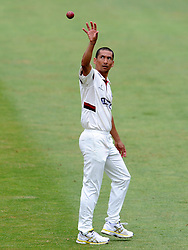 Somerset's Alfonso Thomas - Photo mandatory by-line: Harry Trump/JMP - Mobile: 07966 386802 - 06/07/15 - SPORT - CRICKET - LVCC - County Championship Division One - Somerset v Sussex- Day Two - The County Ground, Taunton, England.