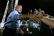 President George W. Bush continued his campaign for re-election as President, addressing a 17000 people crowd at Tinker Field Stadium in Orlando, Florida.