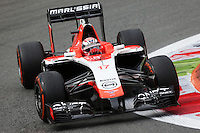 Jules Bianchi (FRA) Marussia F1 Team MR03.<br /> Italian Grand Prix, Friday 5th September 2014. Monza Italy.