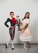 Bay Pointe Ballet School students pose for a portrait during their Nutcracker Photo Day at Bay Pointe Ballet in South San Francisco, California, on November 19, 2016. (Stan Olszewski/SOSKIphoto)