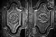 Shrine room door. Dargha at Nagore. South India.