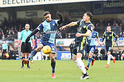 Wycombe Wanderers Forward Paris Cowan-Hall (12) takes a shot on goal during the EFL Sky Bet League 2 match between Wycombe Wanderers and Carlisle United at Adams Park, High Wycombe, England on 3 February 2018. Picture by Stephen Wright.