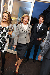 HM QUEEN ANNE-MARIE OF GREECE at a party to celebrate the opening of Pincess Marie-Chantal of Greece's store 'Marie-Chantal' 133A Sloane Street, London on 14th October 2008.