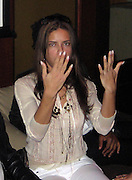 **EXCLUSIVE**.Brazilian Super Model Adriana Lima, Showing how she has no engagement or wedding ring in her finger, meaning she is available to Brazilian Actor/Singer Dado Dolabella.PM Lounge owner Unik's Karaoke Sunday Night .New York, NY, USA .Sunday, May, 06, 2007.Photo By Celebrityvibe.To license this image call (212) 410 5354 or;.Email: celebrityvibe@gmail.com; .