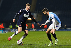Josh Vela of Bolton Wanderers is closed down by Ben Marshall of Blackburn Rovers  - Photo mandatory by-line: Matt McNulty/JMP - Mobile: 07966 386802 - 11/03/2015 - SPORT - Football - Blackburn - Ewood Park - Blackburn Rovers v Bolton Wanderers - Sky Bet Championship